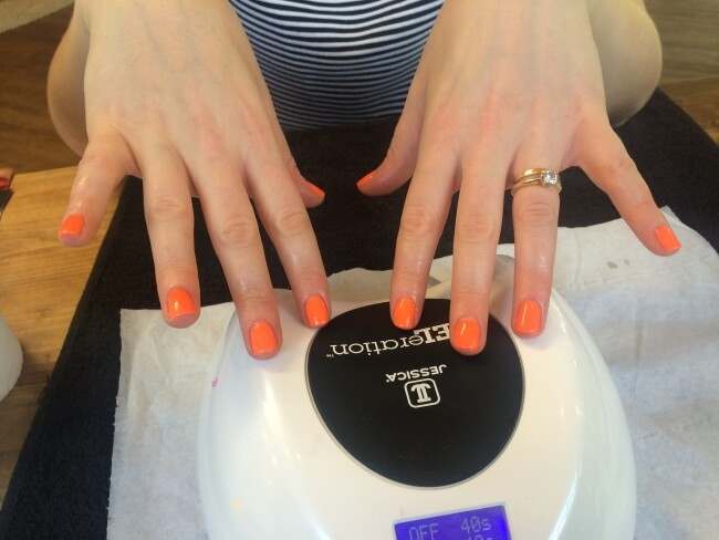 Gel Manicure Orange