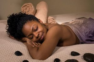 lady having a back massage